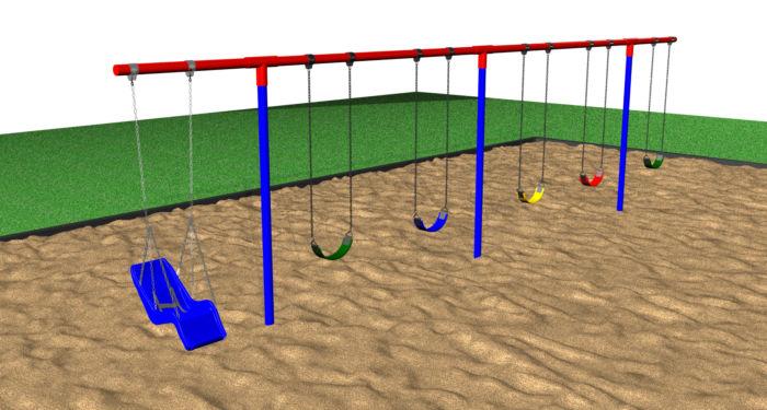 Steel T-Swing Set for Sale