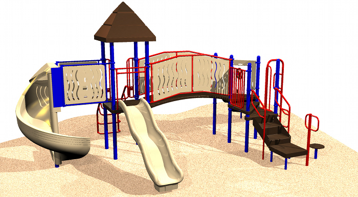Outdoor School Play Structures for Ages 2-12
