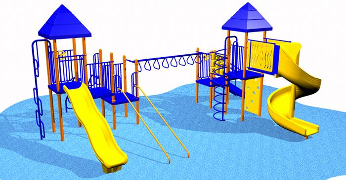 Small, 2 Set Kids Playsystem #6084