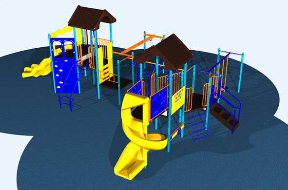 Medium Size Kids Playsystem #6677