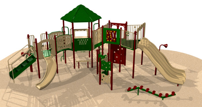 A large playground system with our most popular features