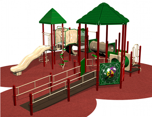 Huge Playground system with educational play activities for children