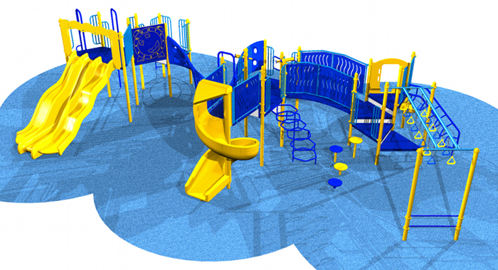 A dynamic kids playground system