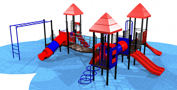 Large, 3 Stage Kids Playsystem #7241
