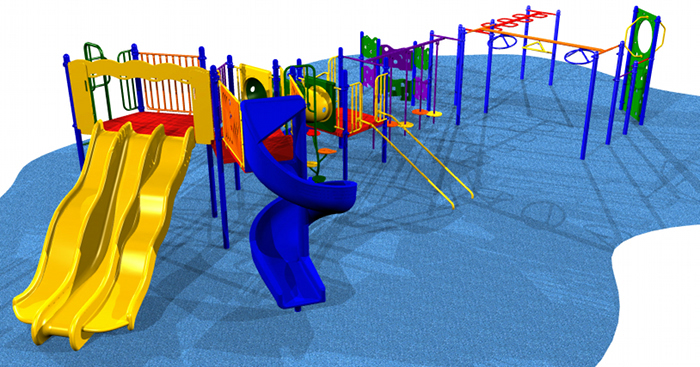 Kids playground system perfect for developing upper body strength