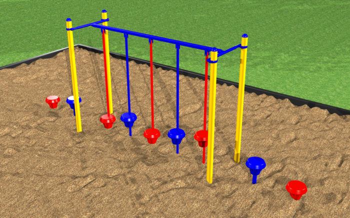 Stepping pod walk for children playground