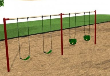 Commercial Playground Inline Swings