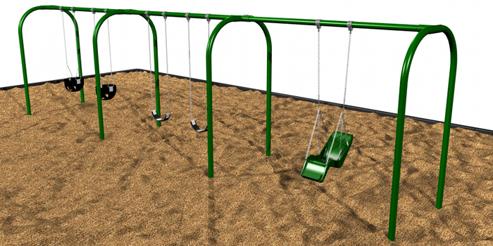 Commercial Playground Arch Swings