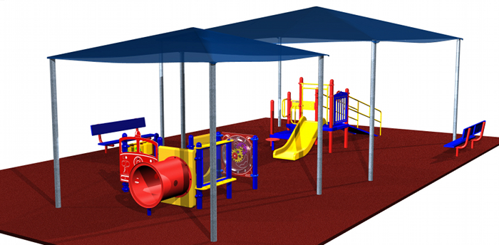 Playground with Sun Shelter for Kids