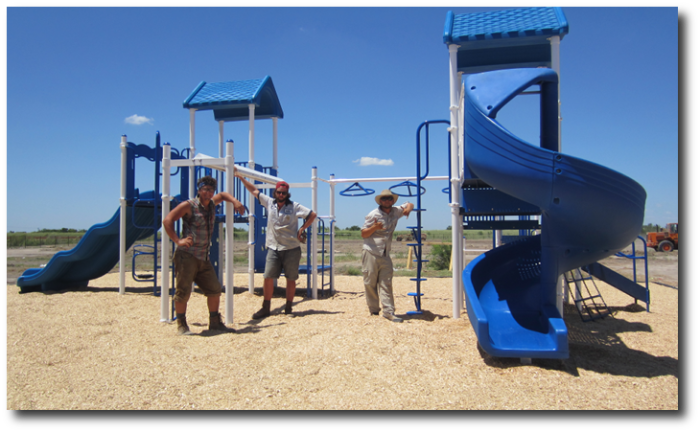 playground equipment installation