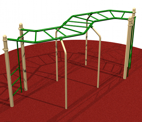 Playground Playsystem with Monkey Bars