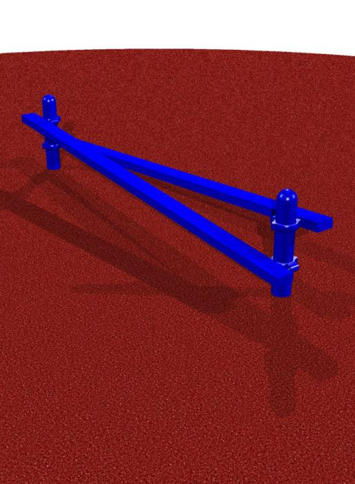 Playground Opposing Beams for Balance & Agility