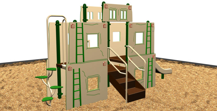 Southwestern-themed playground for kids