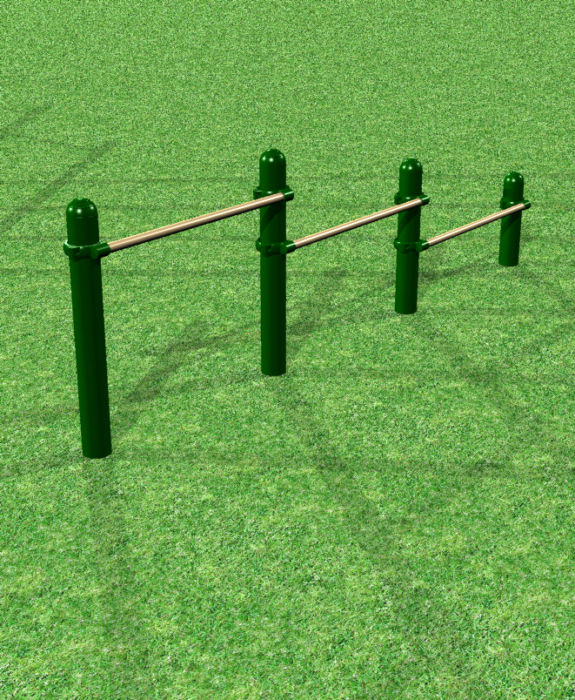 Playground Push-Up Bars & Instructional Sign