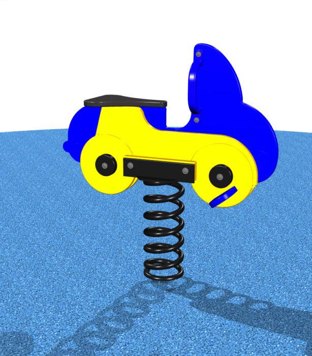 Blue Car Spring Rider