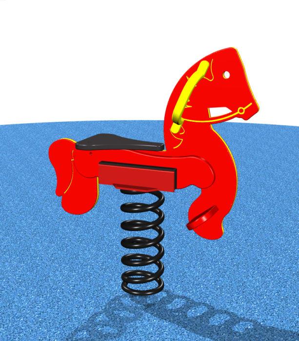 Red Playground Rocking Horse