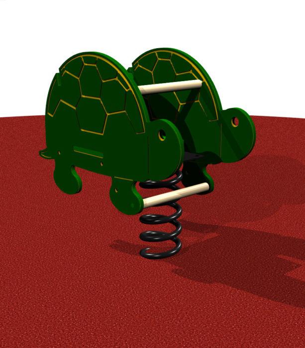 Green Turtle Spring Rider