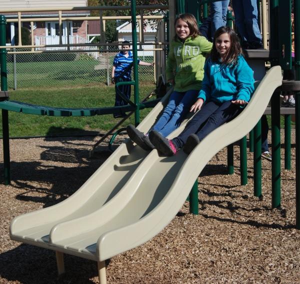 Straight & Wave Combo Playground Slide