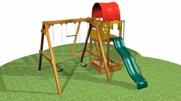 Backyard Fun!  Residential Pine Playsystem #8002