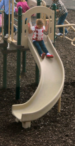 Quarter-Turn Playground Slide