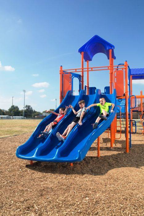 Tri-Ride Playground Slide