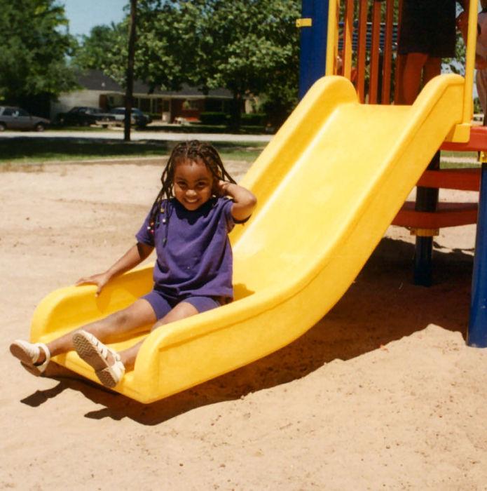 Straight Chute Tot Playground Slide