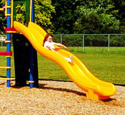 Wave Shaped Playground Slide
