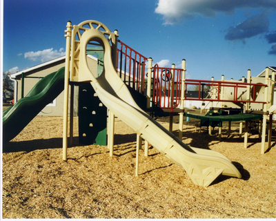 Customizable Twister Playground Slide