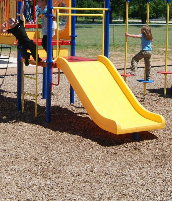 Wide, Triple Rail Slide for Ages 2-5