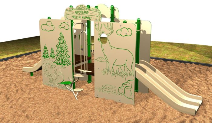 American Woodlands Playsystem For Kids by Kidstuff Playsystems