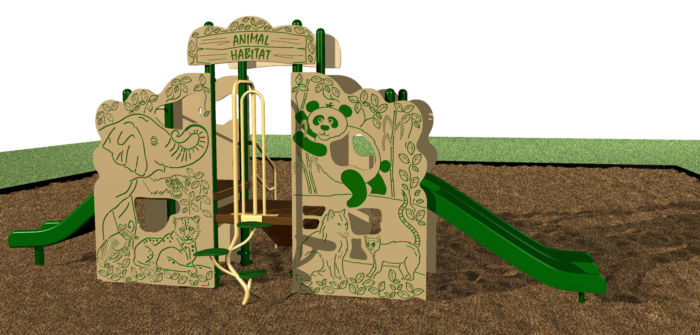 Animal-themed playground for kids