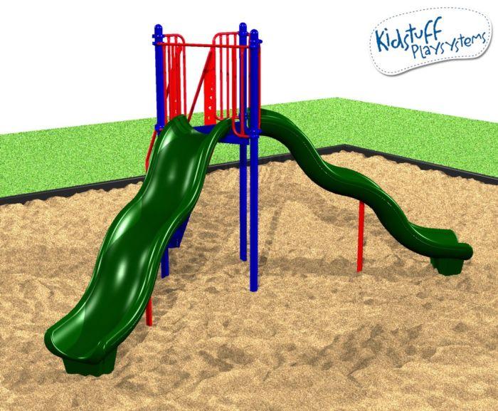 Freestanding 6ft Double Wave Slide #31116