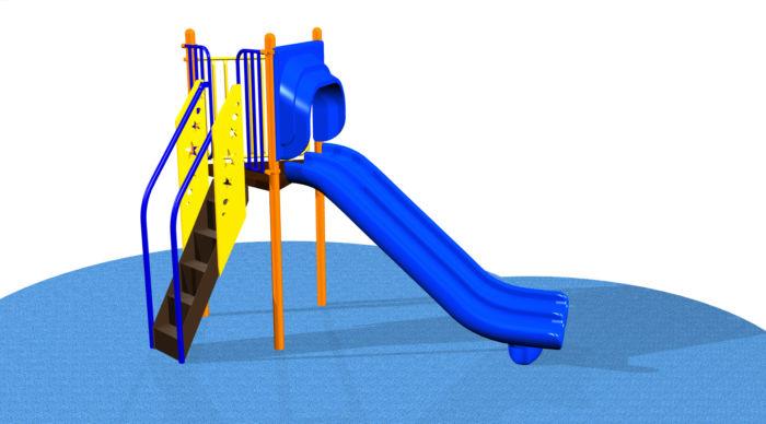 Freestanding 5ft Triple Rail Slide #31305