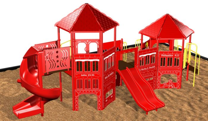 Fire Station Playground Play System