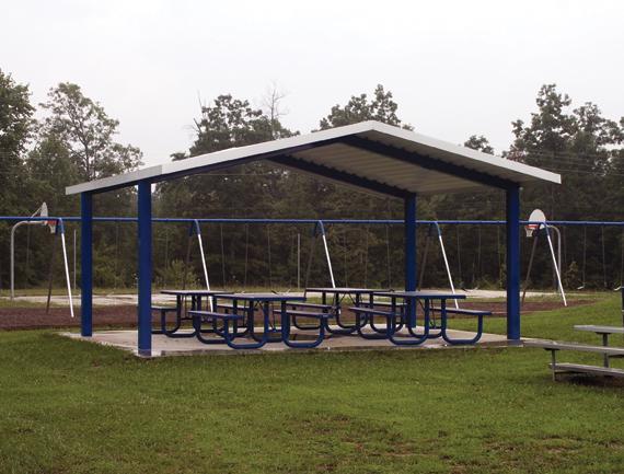 Steel Park Shelter  #52020