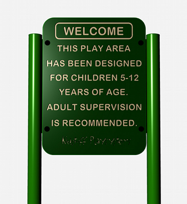 Playground Safety Sign - Age 5 to 12