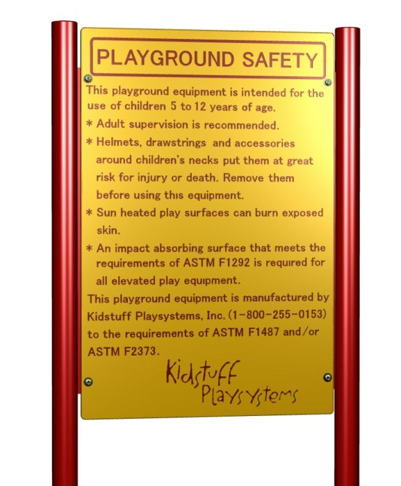 Playground Safety Sign