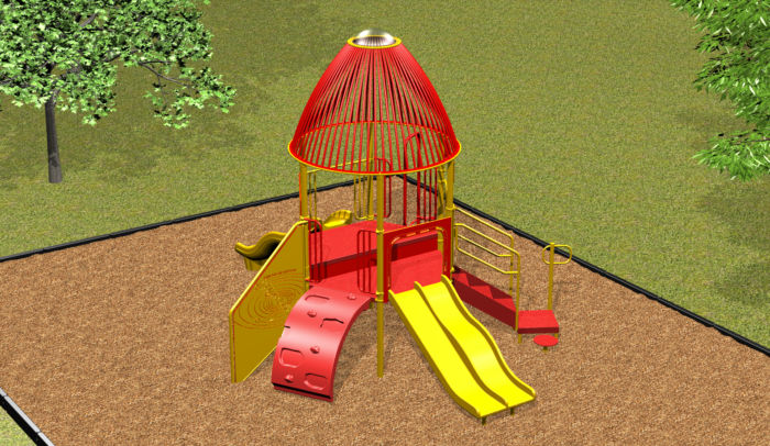 Our Rocket Ship Playground contains seven play events!