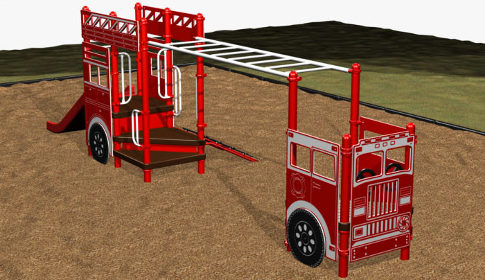 Fire Ladder Truck Play System for Kids 3-5