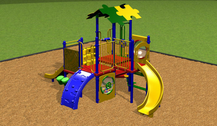 Preschool Playground system with various play events