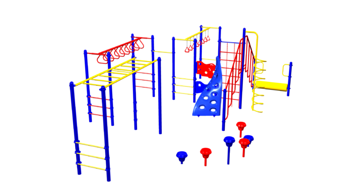 Ultimate kids climbing playground system