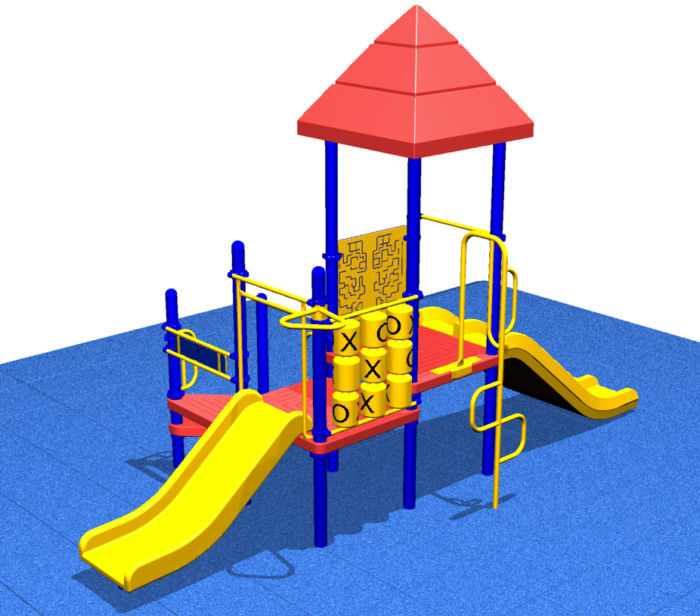 Popular Playground system with various play activities for kids