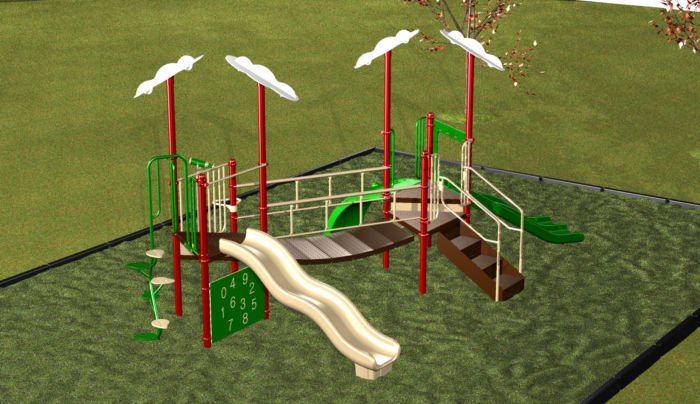 Outdoor Preschool Playground #7372-02