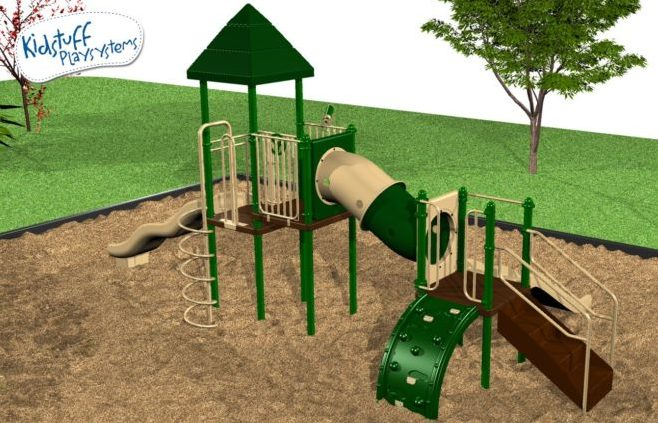 Preschool Playground system with various activities for kids