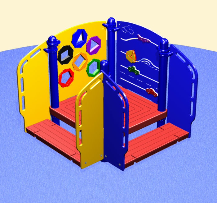 The bright colors and moving parts of this toddler activity center is perfect for exploration!