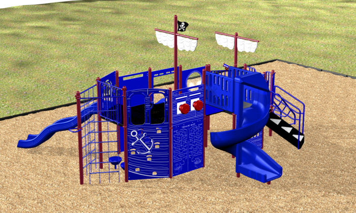 A pirate themed playground system for fun on the high seas