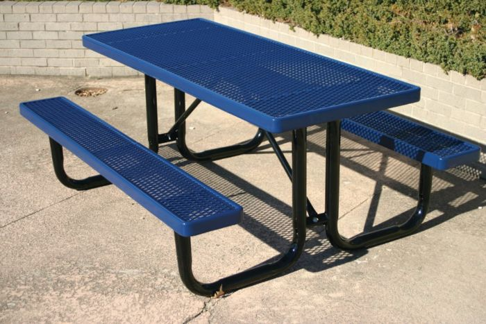 6ft Steel Picnic Table #9200