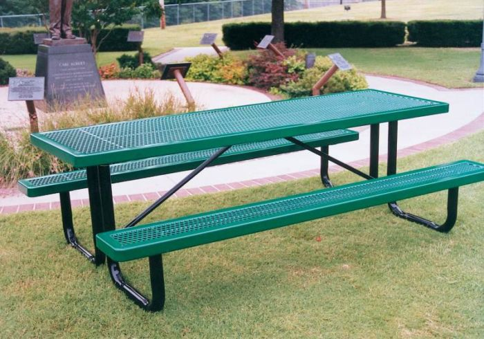 Ft Steel Picnic Table For Parks Playgrounds Kidstuff Playsystems - Playground picnic table