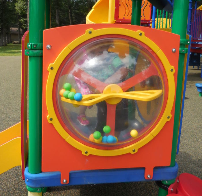 Interactive Ball Mixer Playground Panel