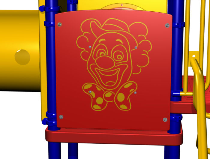 Clown Spinner Playground Panel